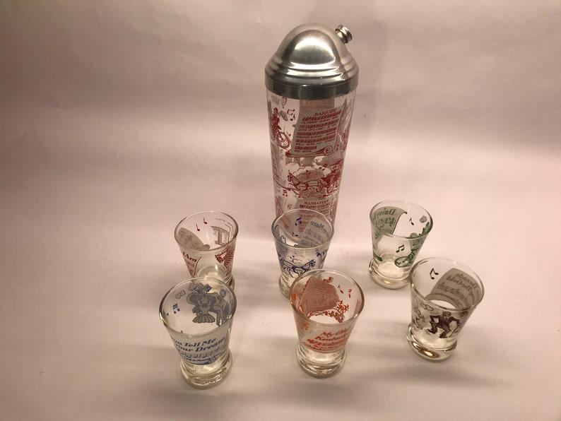 Vintage Cocktail Shaker Set Hazel Atlas Songs