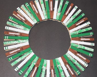 Sports Clothespin Wreath