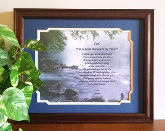Father Frame Personalized Poem Dad Birthday Gift From Daughter Son Fathers Day Ideas For Stepdad Fishing Mountain Decor