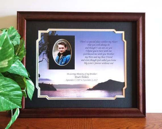 Brother Memorial Frame Personalized Loss Of Brother In Etsy