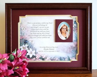 Memorial Picture Frames Memorial Frames And Framed In Memory Gifts