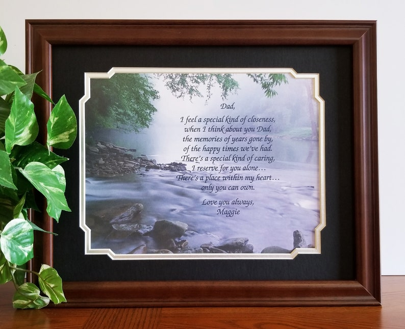 Father Frame Personalized Poem Dad Birthday Gift From Daughter