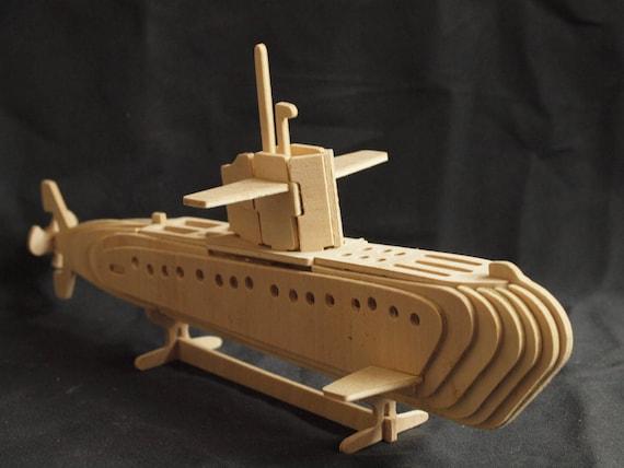 Submarine 3D Wooden Model Puzzle Construction kit   Etsy