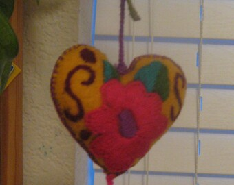 Mexican Embroidered Hearts