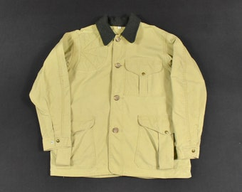 25b62d965cc67 C.C. Filson 42 Medium Tin Cloth Field Jacket Canvas Hunting Coat Men's  Vintage Made In USA