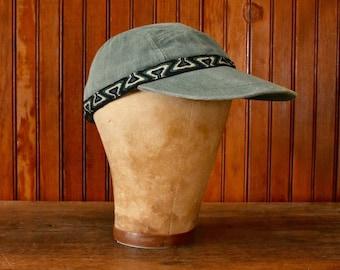 67aa20f1aa465 LL Bean 5 Panel Hat Faded Green Canvas Men s Vintage Adjustable Cap 80s 90s