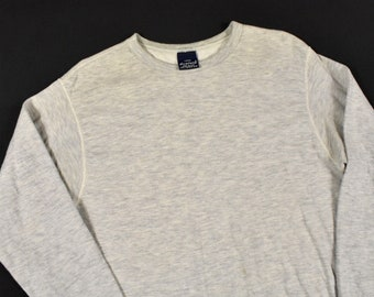 ef970b01453 Duofold Large Long Sleeve Thermal Base Layer 2-Ply Gray Shirt Men s Vintage  Made In USA