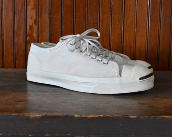 4da52171df8439 Jack Purcell Men s 11.5 Made In USA Converse White Canvas Sneakers Mint!  Please Read!