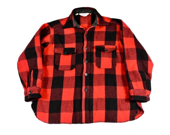 3b75d4d4060 Woolrich Jacket XL Red   Black Buffalo Plaid Wool Men s