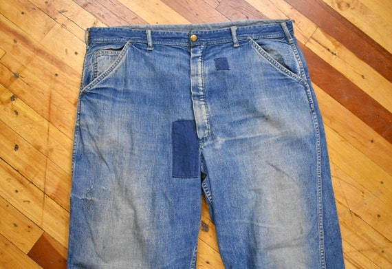 50s Carter's 39 x 29 Denim Carpenter Jeans Denim V