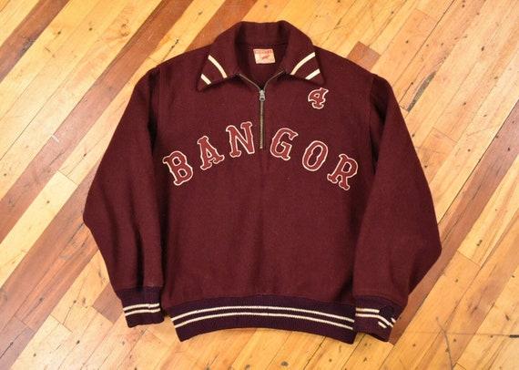 50s Bangor Maine Jacket Medium Half Zip Pullover W