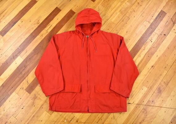 50s 60s Osh Kosh XL Poplin Anorak Jacket Zip Up Po