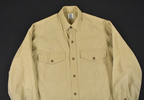 40s 50s U.S. Military Medium Poplin Utility Shirt… - image 1