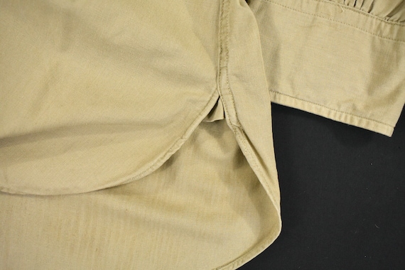 40s 50s U.S. Military Medium Poplin Utility Shirt… - image 6