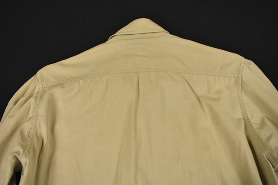40s 50s U.S. Military Medium Poplin Utility Shirt… - image 8
