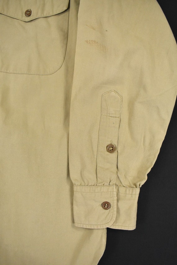 40s 50s U.S. Military Medium Poplin Utility Shirt… - image 5