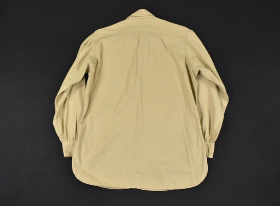 40s 50s U.S. Military Medium Poplin Utility Shirt… - image 7
