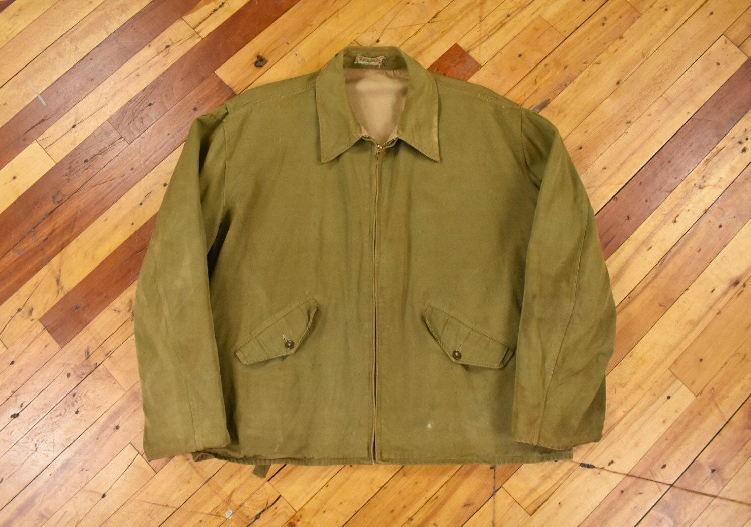 1940s Mens Ties | Wide Ties & Painted Ties 1940S Congress Large Work Jacket Reversible Side Cinch $20.00 AT vintagedancer.com