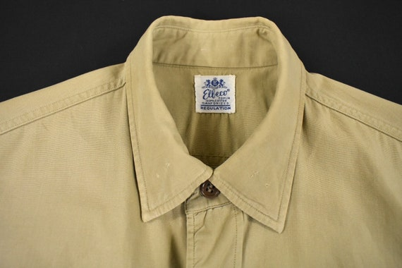 40s 50s U.S. Military Medium Poplin Utility Shirt… - image 3