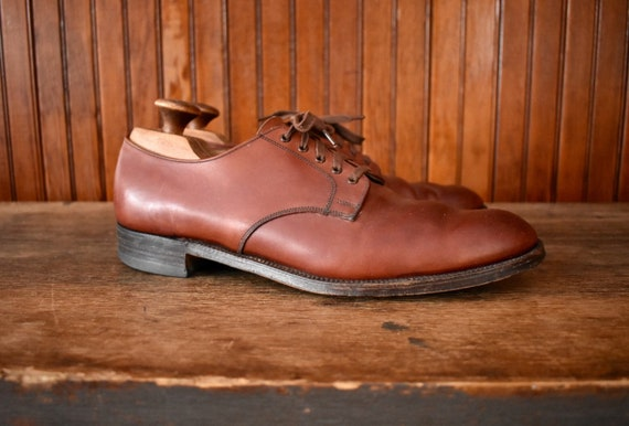 50s 60s Brooks Brothers 9 B Blucher Derby Shoes Br
