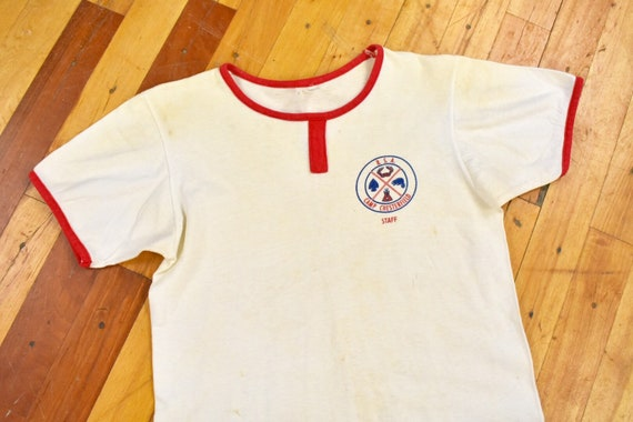 50s 60s Boyscouts Shirt Small Camp Chesterfield BS