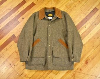 Woolrich Large Wool Barn Coat Lined Field Jacked Men's Vintage