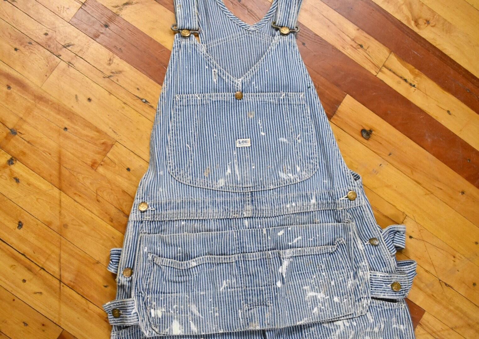 1960s – 70s Men's Ties | Skinny Ties, Slim Ties 60S Lee Hickory Stripe Overalls Mens Vintage Work Wear $20.00 AT vintagedancer.com