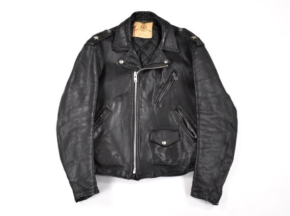 Beck Leather Jacket Large Size 44 Biker Motorcycle