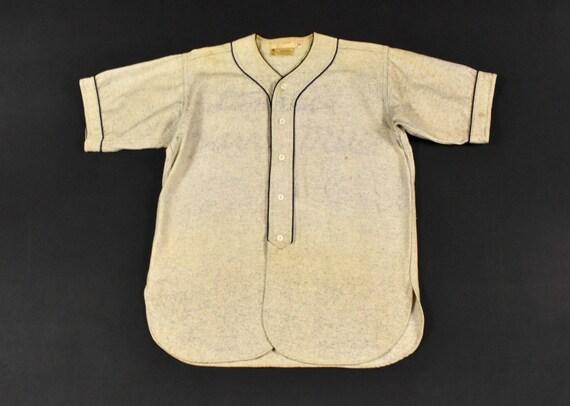 30s 40s Baseball Jersey S/M Uniform Top Sportswear