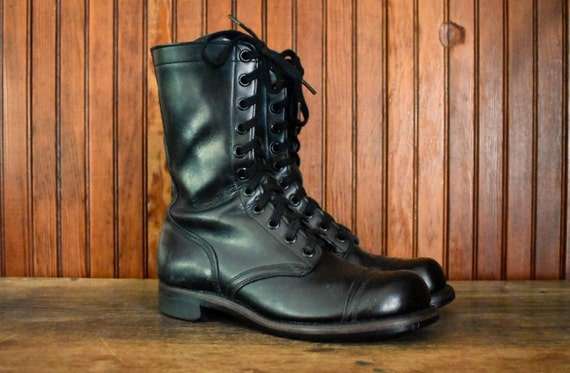 60s Combat Boots 8.5 R US Military Issue Black Lea