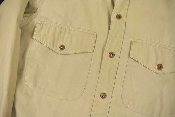 40s 50s U.S. Military Medium Poplin Utility Shirt… - image 4