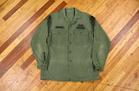 Vietnam Era M/L Field Shirt OG-107 Sateen Military