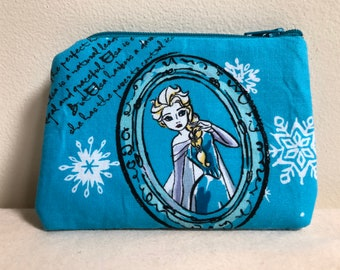 Coin Purse, Change Purse, Frozen Change Purse, Zipper Pouch, Zipper Bag, Ella Inspired