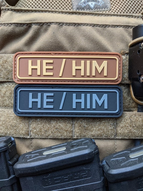 Tactical He Him Pronoun Patch Pvc Patch With Hook And Loop Etsy Pua and hei hei from moana vaiana pixar disney embroidery sketch design for machine, 3 sizes 4x4 5x7 6x10. tactical he him pronoun patch pvc patch with hook and loop