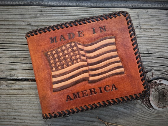 Custom Proud To Be American Double Laced Bi-fold Wallet