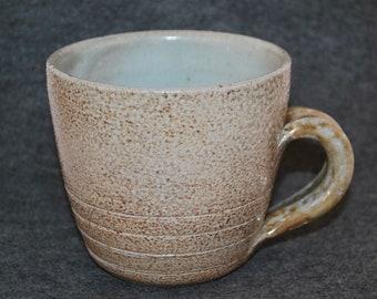 Salt Fired Shino Handled Mug