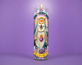Become a Saint: Custom Prayer Candle, Valentines gift idea, Funny unique gift, Catholic candle, Unscented, 7 Day Candle, Pet Loss Gift