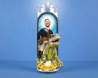 Lord of the Raptors: Custom Saint Prayer Candle