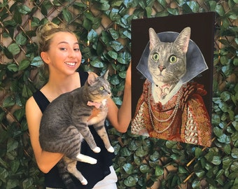 Queen of Laughs: Custom Portrait for pets, friends and celebrities.