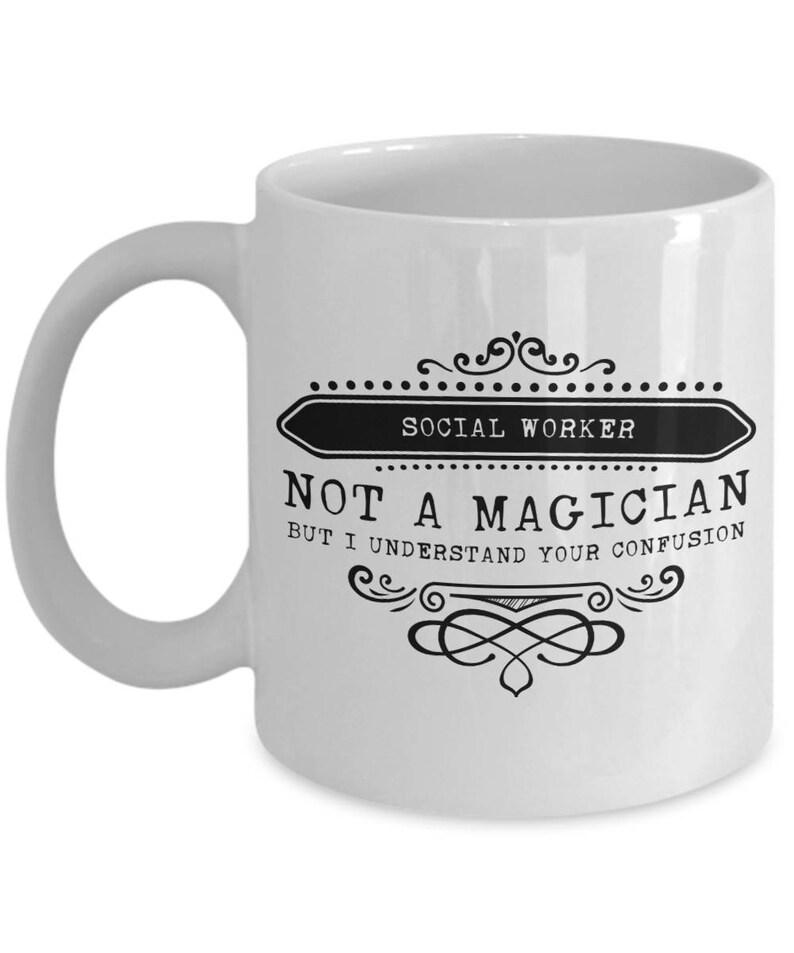 Social Worker Coffee Mug Funny Sayings Ceramic Tea Cup Gift Etsy