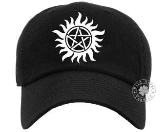 Antipossession Symbol Pentagram Baseball Cap Dad Hat Gift for Supernatural Fan