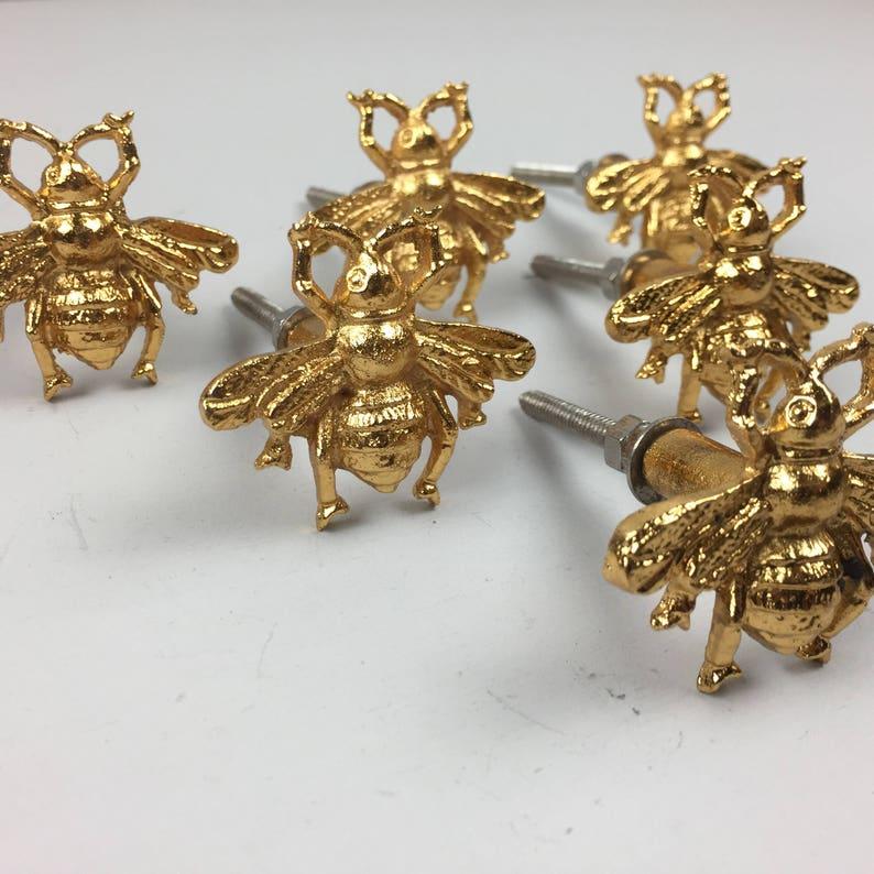 12 X Golden Bee Metal Door Knobs
