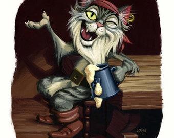 Tall Tail- Pirate Cat Storyteller print
