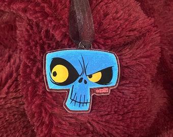 Spoopy Skull Acrylic Halloween Tree Ornament