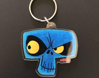 Spoopy Skull Acrylic Keychain charm