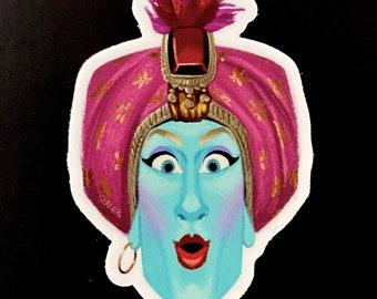 Jambii the Genie 3 inch vinyl sticker- free shipping
