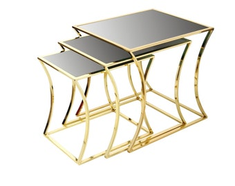 413700be9e0eb Berman Side Table Set of 3 Modern Side Table Small Coffee