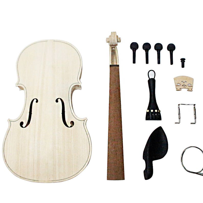 Zimo Make Your Own Full Size 4/4 Natural Acoustic Violin DIY image 0