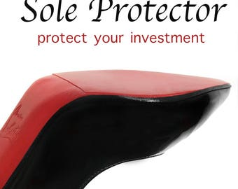 fbb089239ed Crystal Clear 3M sole protector guard for Christian Louboutin red bottom  heels
