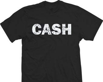 ec8cfc0eb Johnny Cash Shirt The Man in Black Distressed Unisex Tee T-Shirt